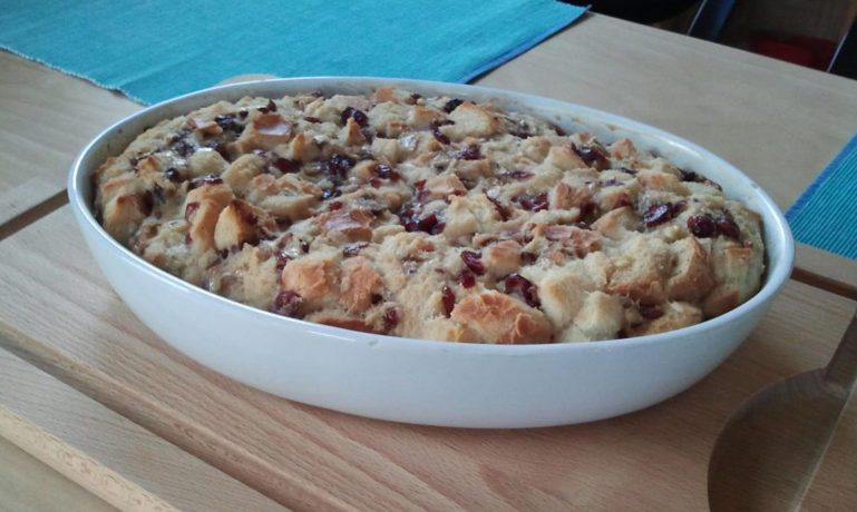 Cranberry-Banana-Bread-Pudding