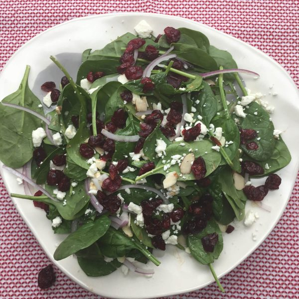 Spinach-Salad-with-Cranberries-Feta